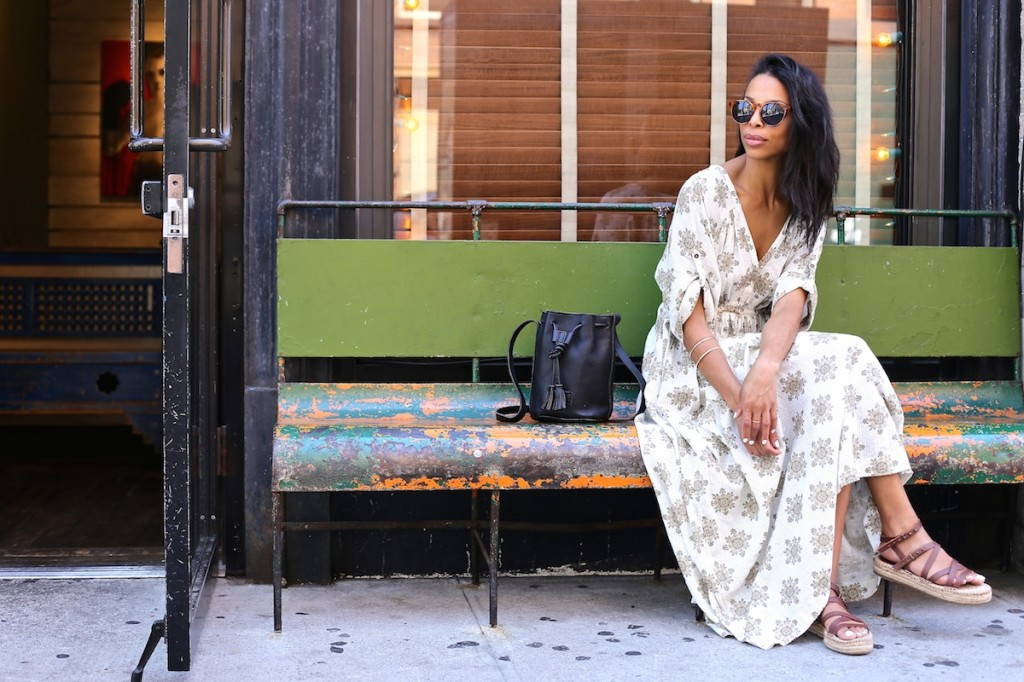 printed maxi dress on repeat