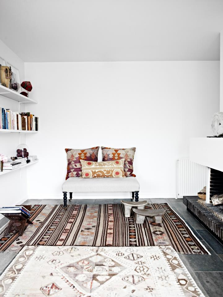 layered up area rugs