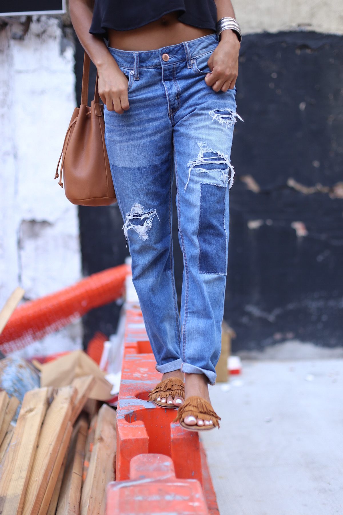 American Eagle Outfitters Distressed Boyfriend Jeans