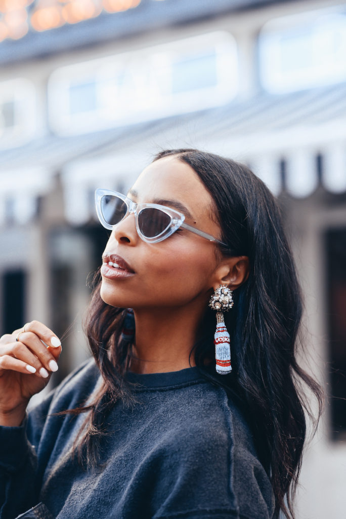 a cheeky chic pair of statement earrings