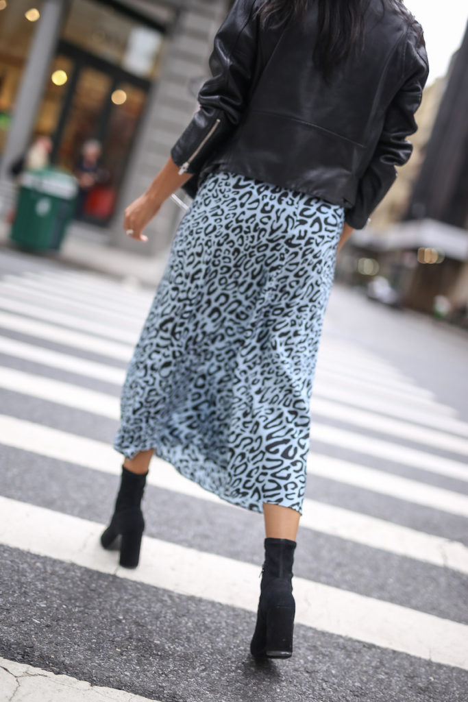 a leopard print piece straight from NYFW